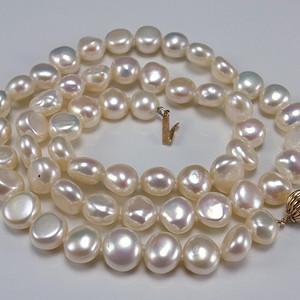 美国回流 14K金天然珍珠项链