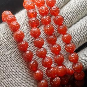 创汇时期的团寿纹南红玛瑙珠108颗