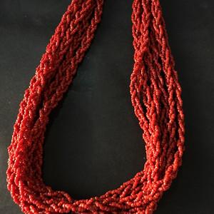 8057欧洲回流多股编织珊瑚项链