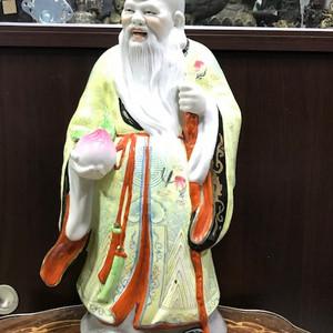 9069 建国初大号瓷雕寿星