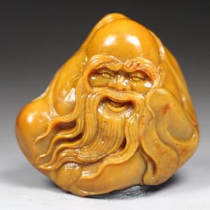 珍品收藏 珍品寿山田黄石圆雕《寿星》