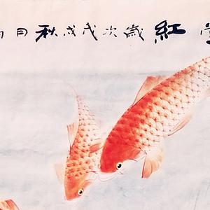 著名花鸟画家 杨韵才 满堂红