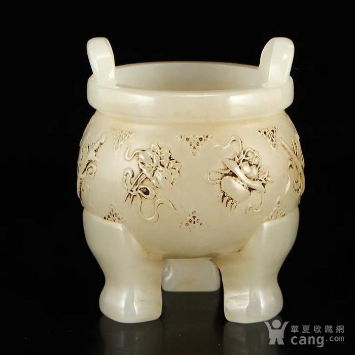 比利时回流的中国仙家八宝图和田玉老香炉