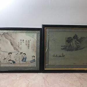 9072 朝鲜绢画两幅