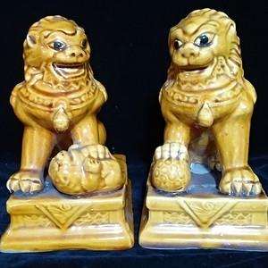 回流之黄狮子一对