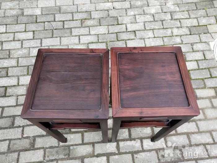 红酸枝四椅二几图4