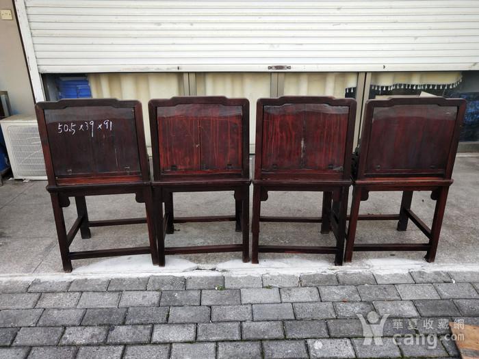 红酸枝四椅二几图9