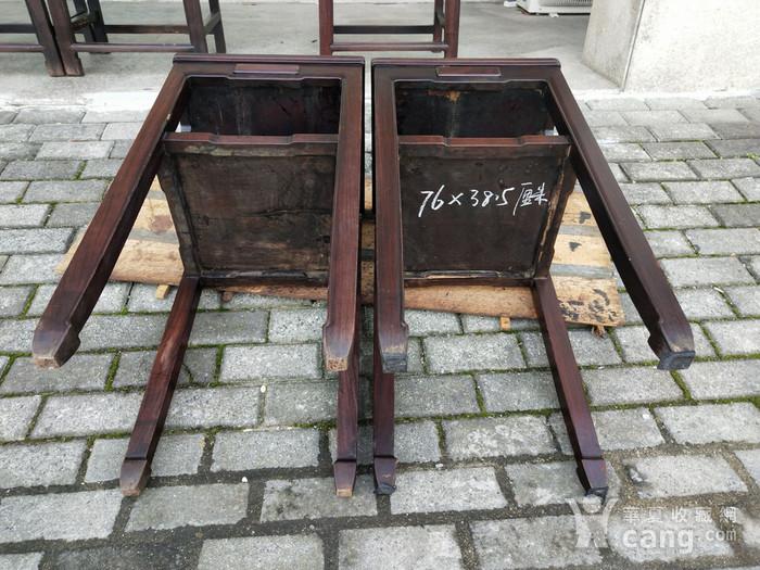 红酸枝四椅二几图11