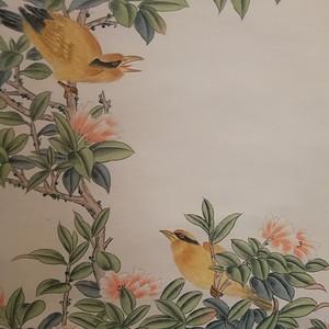装裱画沈铨花鸟