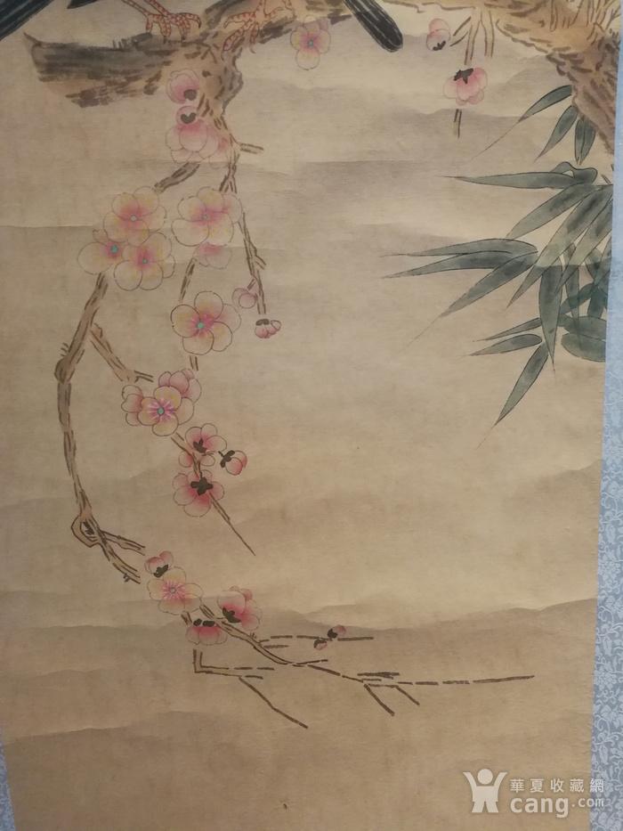 装裱字画梅道人吴镇花鸟寄托款图6