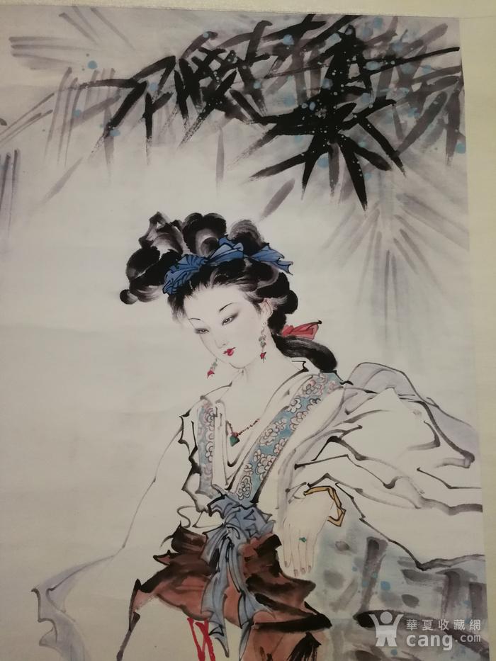 装裱画白伯骅侍女图图1