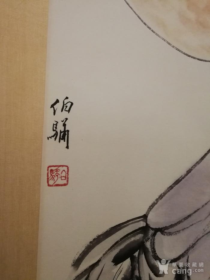 装裱画白伯骅侍女观荷图3