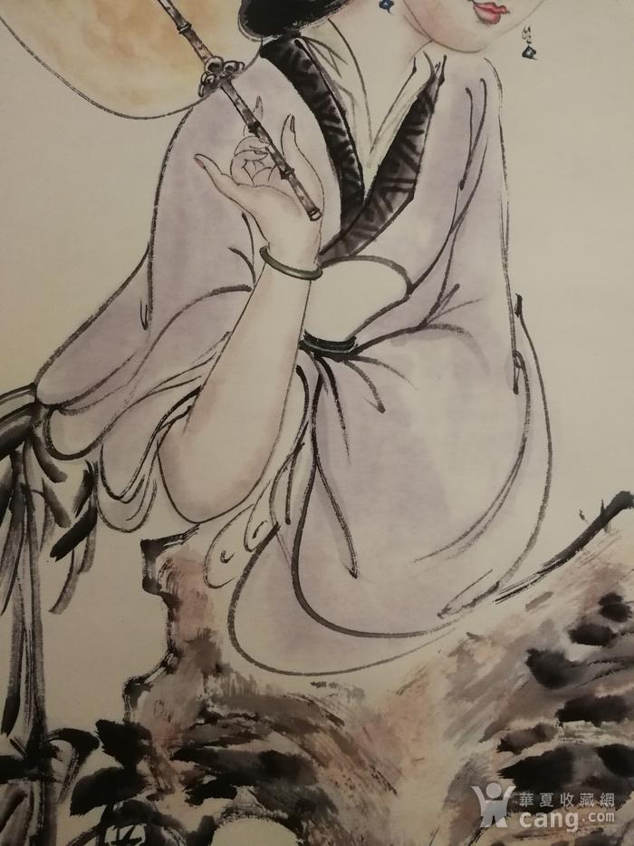 装裱画白伯骅侍女观荷图5