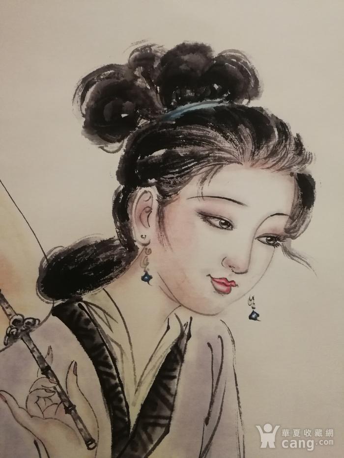 装裱画白伯骅侍女观荷图8