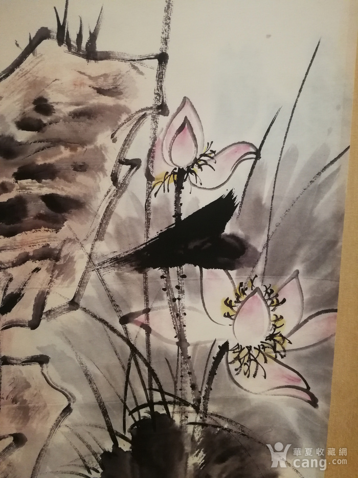 装裱画白伯骅侍女观荷图9