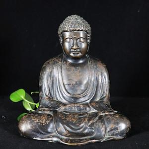 清代铜雕释迦摩尼佛像