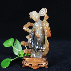 清代玛瑙人物雕像
