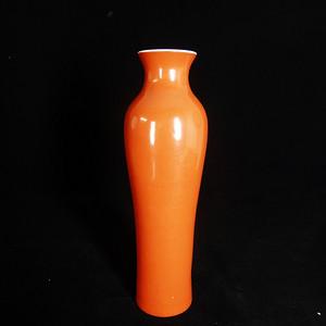 民国胭脂红赏瓶