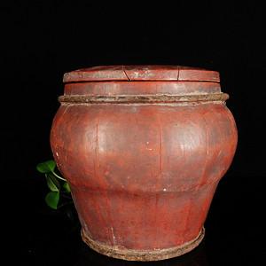 民国木质盖罐