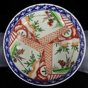 清代粉彩竹纹开窗绘画 碗