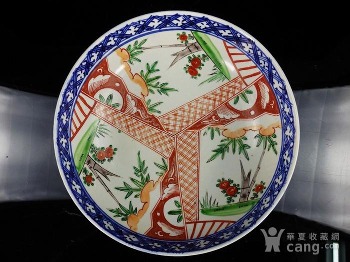 清代粉彩竹纹开窗绘画 碗图1