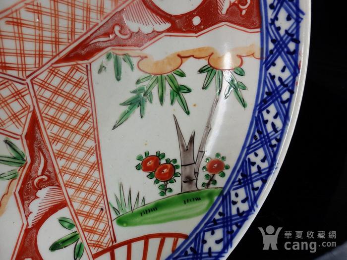 清代粉彩竹纹开窗绘画 碗图2