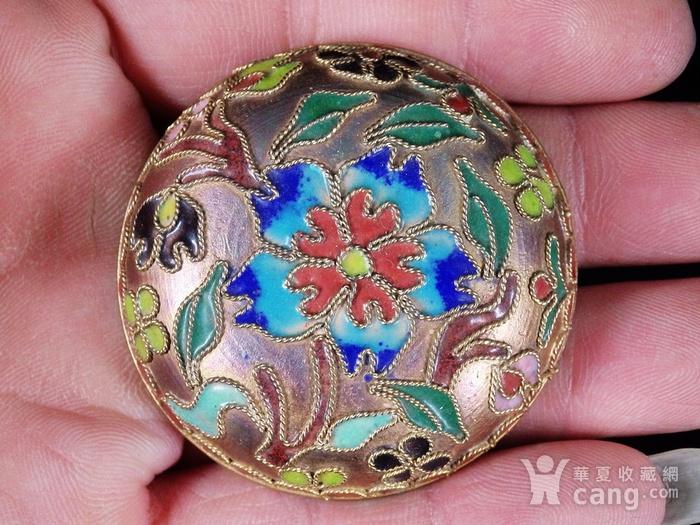 清代景泰蓝花卉掐丝盖盒图2