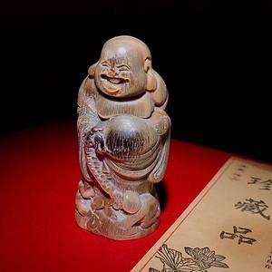 联盟 原创纯手工雕刻 弥勒佛