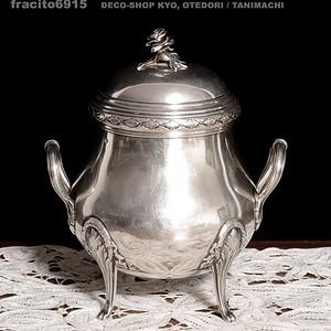 1870年左右,纯银糖罐