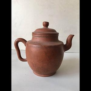 清中期精品僧帽紫砂茶壶