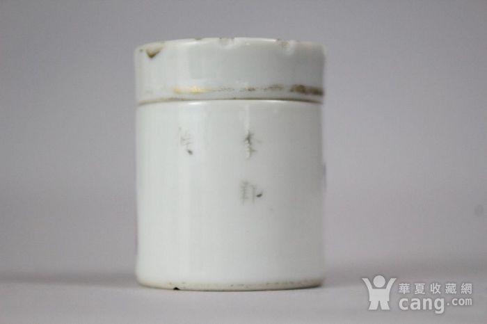 精品   清代无双谱粉彩盖罐 3 图4