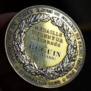 本场精品,1879年,法国镀金老银章