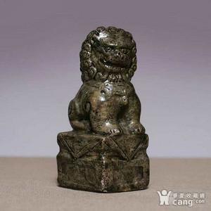 清民,雕瓷狮子