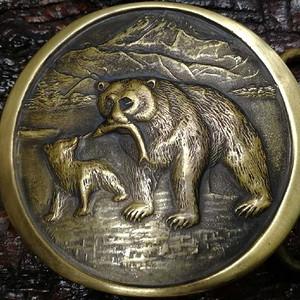 美国回流的一个精铜皮带扣