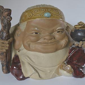 纯手工石湾窑人物瓷像