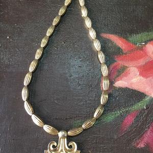 8109欧洲回流古董银鎏金项链