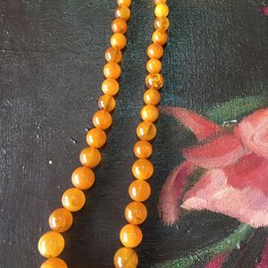 8113欧洲回流老蜜蜡圆珠项链