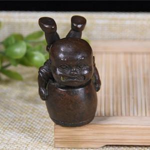 日本回流 铜器 童子