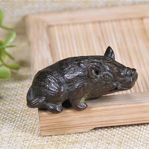 日本回流 铜器  野猪
