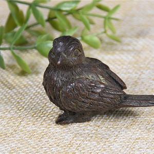 日本回流铜器  喜鹊