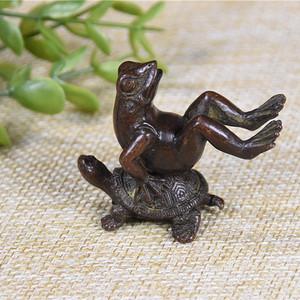 日本回流 紫铜  青蛙 乌龟