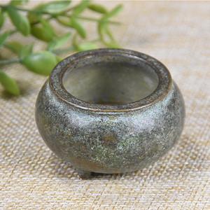 日本回流 紫铜  三足香炉