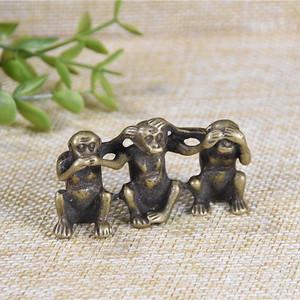 日本回流 纯铜  三不猴
