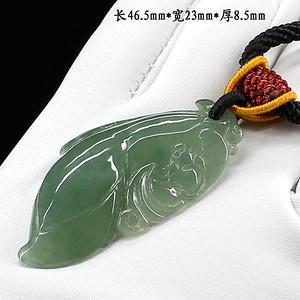冰满绿翡翠福禄寿挂件1911