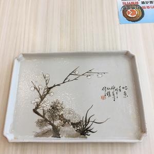 民国名家仙槎梅兰竹菊墨彩精品茶盘
