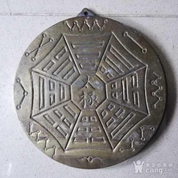 英国回流的一铜太极八卦挂牌图2