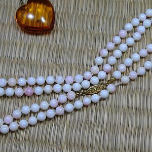 罕 Momo天然粉白珊瑚圆珠项链