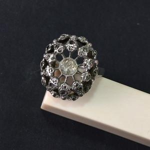 8012欧洲回流老银嵌宝戒指