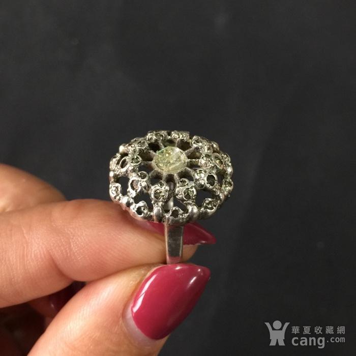 8012欧洲回流老银嵌宝戒指图2