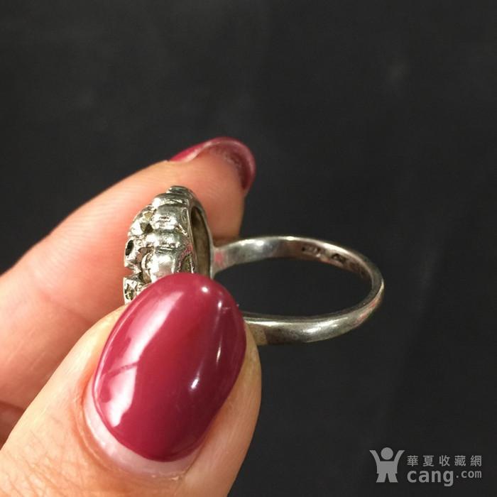 8012欧洲回流老银嵌宝戒指图4